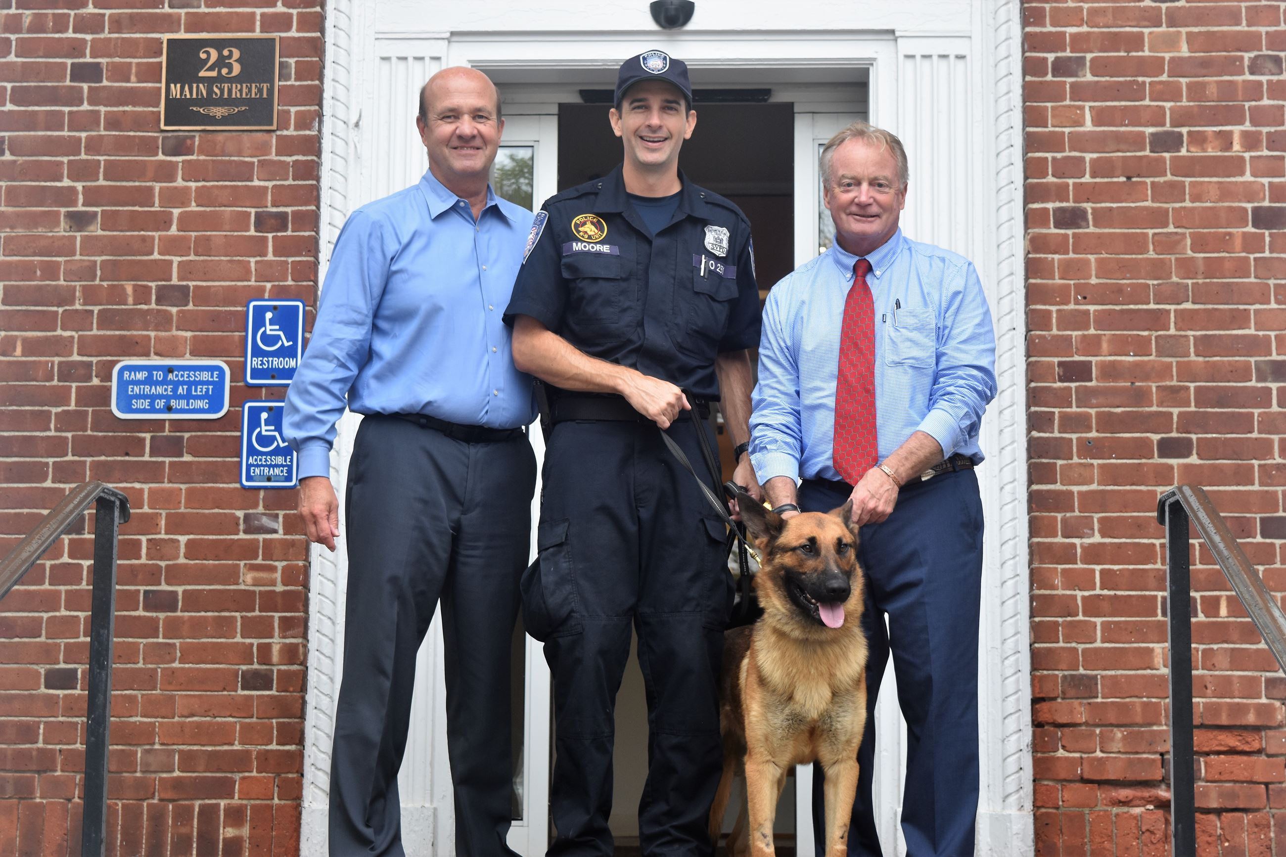 Image of Village welcomes Topper the Police Dog