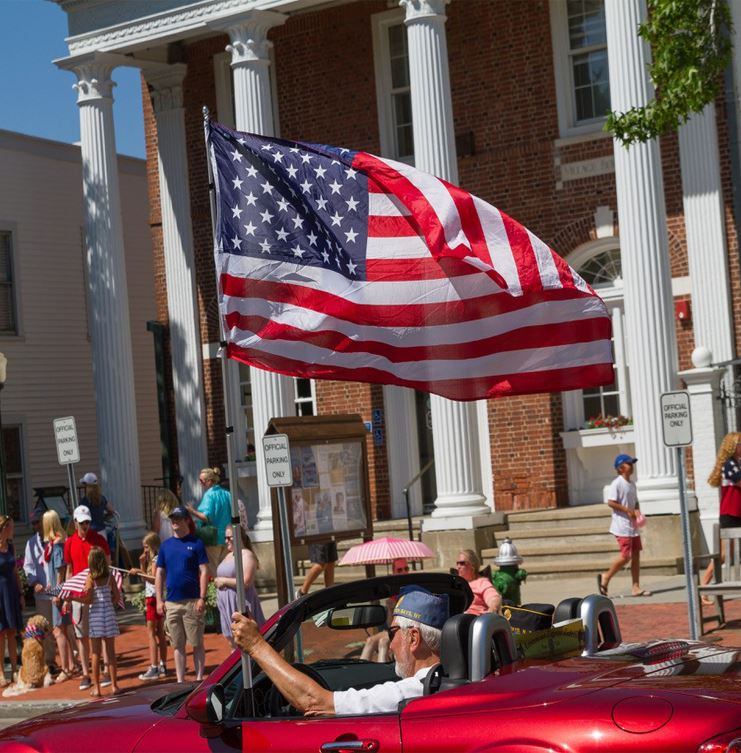 Image of July 4th parade - Village Hall