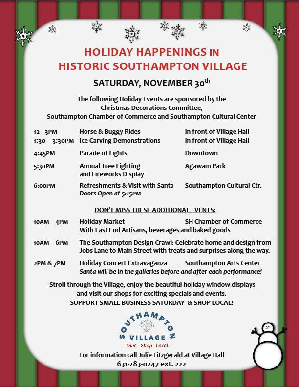 Image of Southampton Village Holiday Flyer -